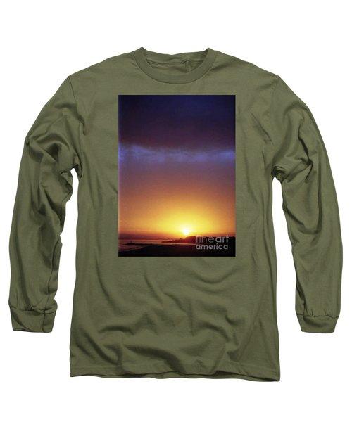 California Ocean Sunset Long Sleeve T-Shirt by Ted Pollard