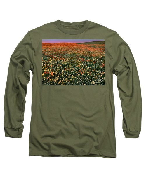 California Poppies At Dawn Lancaster California Long Sleeve T-Shirt