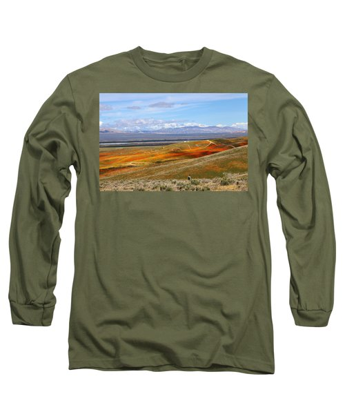 Long Sleeve T-Shirt featuring the photograph California Poppy Reserve by Viktor Savchenko