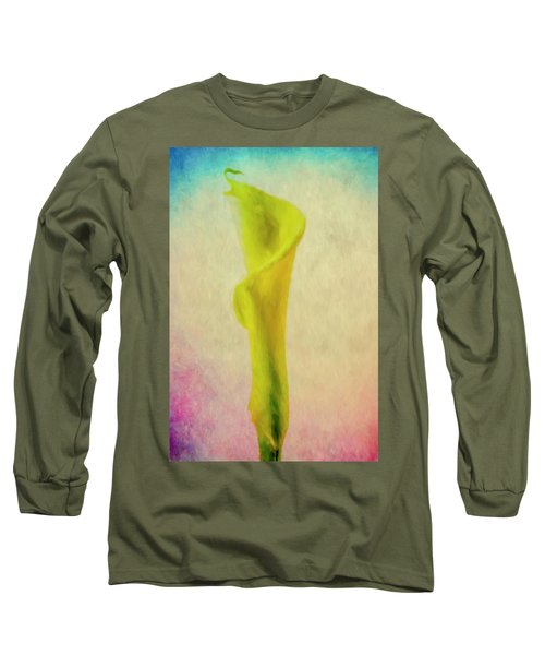 Long Sleeve T-Shirt featuring the photograph Calla Lilly Echo Flower by David Haskett