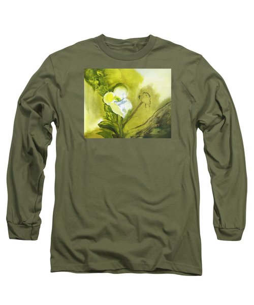 Calla Lily In Acrylic Long Sleeve T-Shirt by Frank Bright