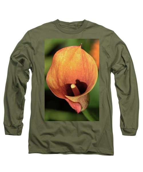 Long Sleeve T-Shirt featuring the photograph Calla Sunbathing. by Terence Davis