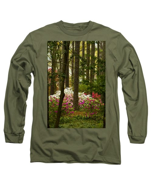 Callaway Gardens Spring Azaleas Long Sleeve T-Shirt by Kathy Clark