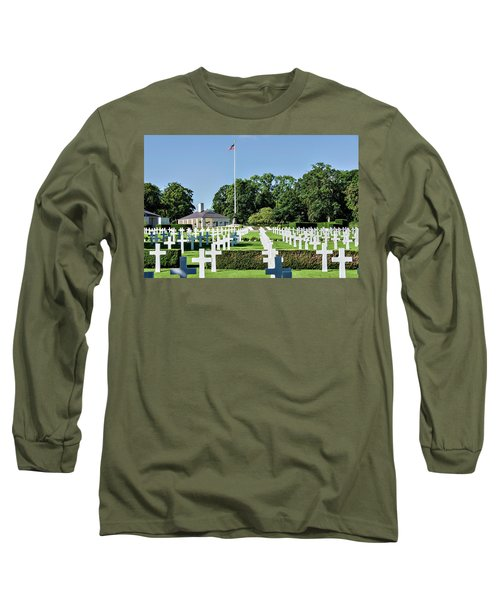 Long Sleeve T-Shirt featuring the photograph Cambridge England American Cemetery by Alan Toepfer