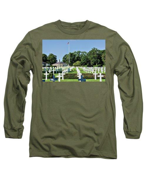 Cambridge England American Cemetery Long Sleeve T-Shirt by Alan Toepfer