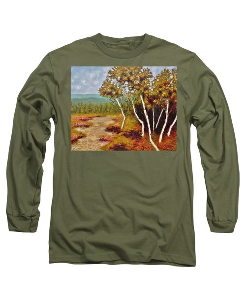 Camel Top Birches Long Sleeve T-Shirt by Jason Williamson