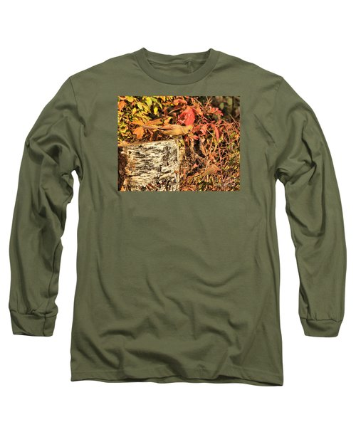 Camo Bird Long Sleeve T-Shirt by Debbie Stahre
