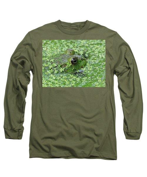 Camo Frog Long Sleeve T-Shirt by Ronda Ryan