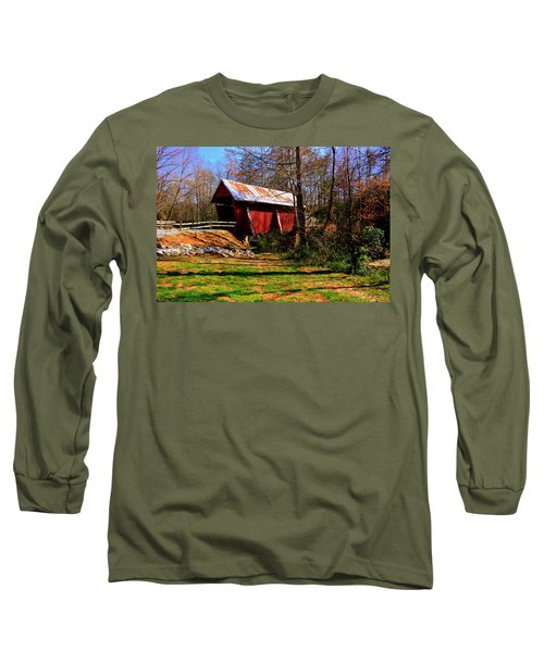 Campbell's Covered Bridge Est. 1909 Long Sleeve T-Shirt