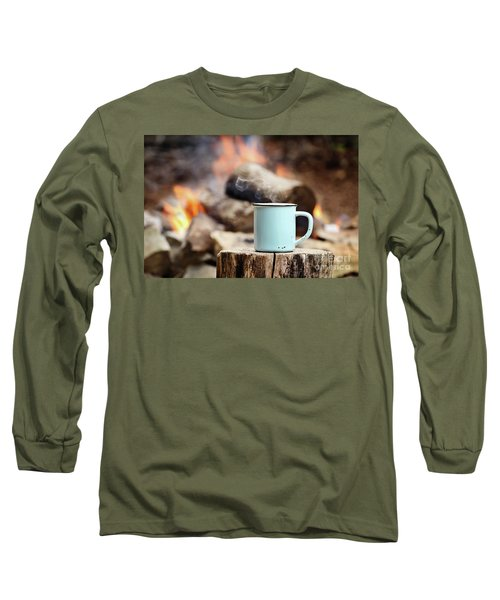 Long Sleeve T-Shirt featuring the photograph Campfire Coffee by Stephanie Frey