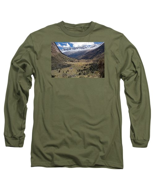 Camping In Huaripampa Valley Long Sleeve T-Shirt