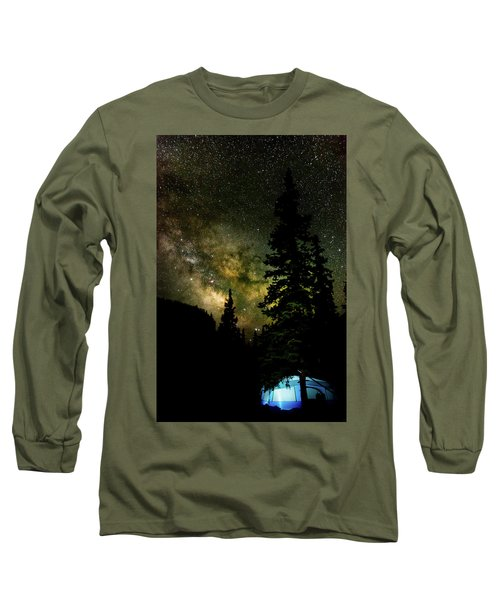 Camping Under The Milky Way Long Sleeve T-Shirt