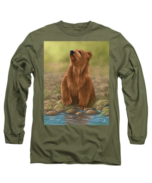 Long Sleeve T-Shirt featuring the painting Can I Dive? by Veronica Minozzi