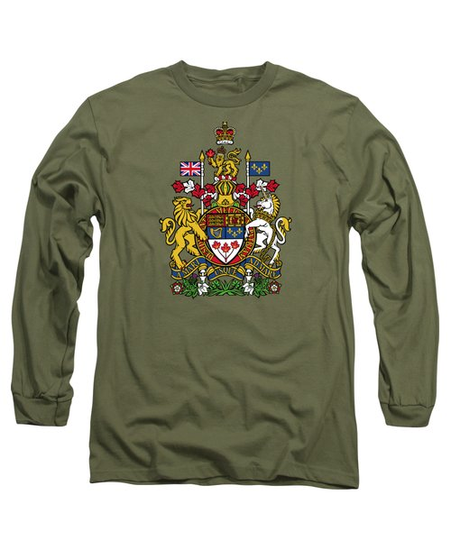 Long Sleeve T-Shirt featuring the drawing Canada Coat Of Arms by Movie Poster Prints