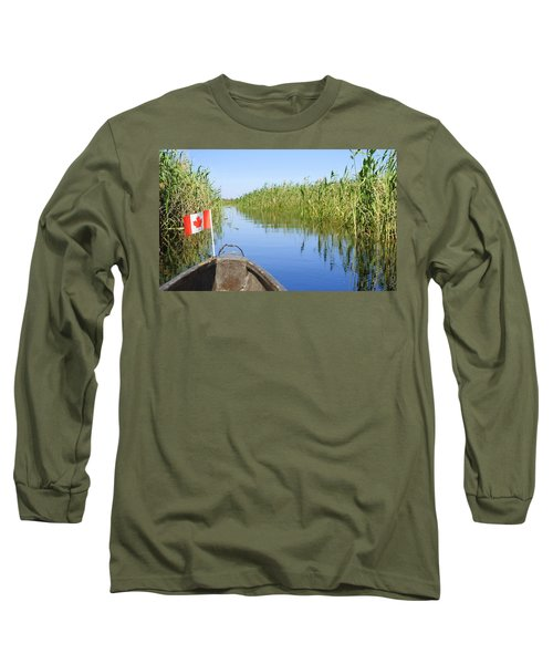 Canadians In Africa Long Sleeve T-Shirt by Betty-Anne McDonald