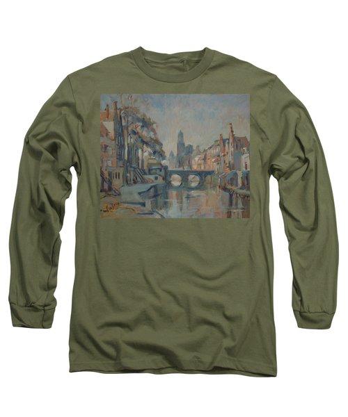 Canal In Utrecht Long Sleeve T-Shirt
