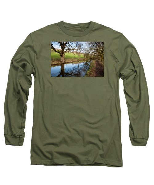 Canal Reflections Long Sleeve T-Shirt by Helen Northcott