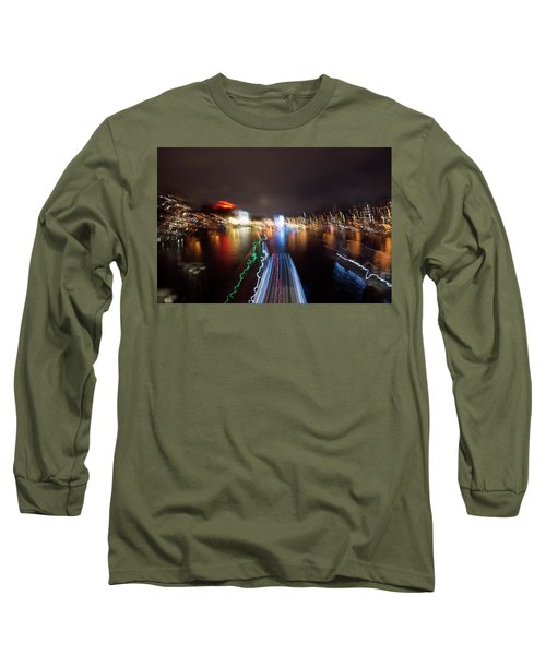 Canal Streaking Abstract Long Sleeve T-Shirt