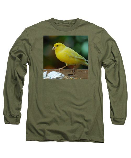 Long Sleeve T-Shirt featuring the photograph Canary Domesticated by Ramona Whiteaker