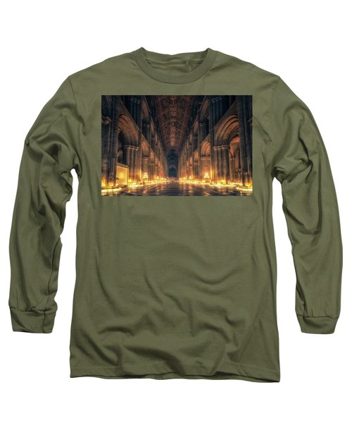 Long Sleeve T-Shirt featuring the photograph Candlemas - Nave by James Billings