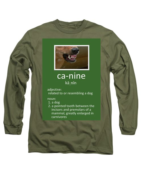 Canine Poster Long Sleeve T-Shirt
