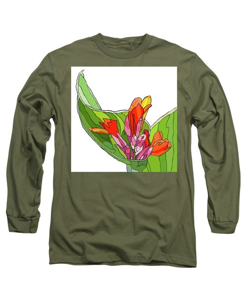 Canna Bud Long Sleeve T-Shirt by Jamie Downs