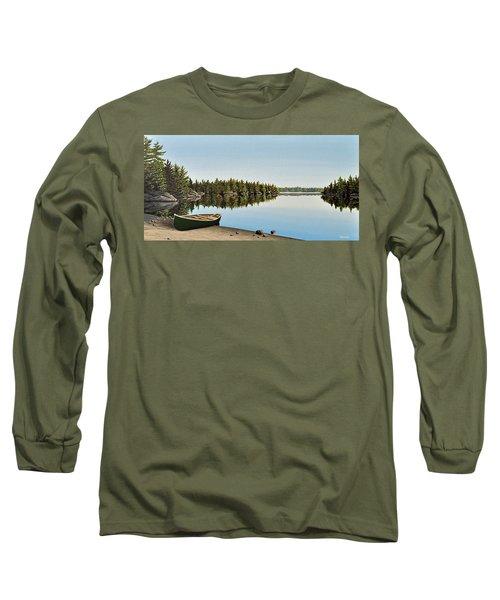 Canoe The Massassauga Long Sleeve T-Shirt by Kenneth M  Kirsch
