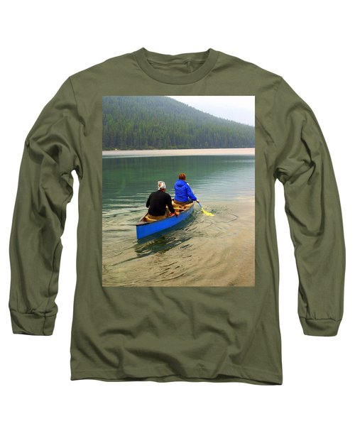 Canoeing Glacier Park Long Sleeve T-Shirt