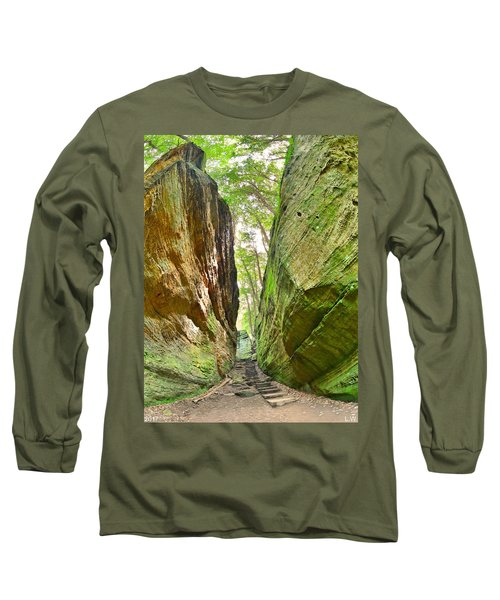 Cantwell Cliffs Trail Hocking Hills Ohio Long Sleeve T-Shirt