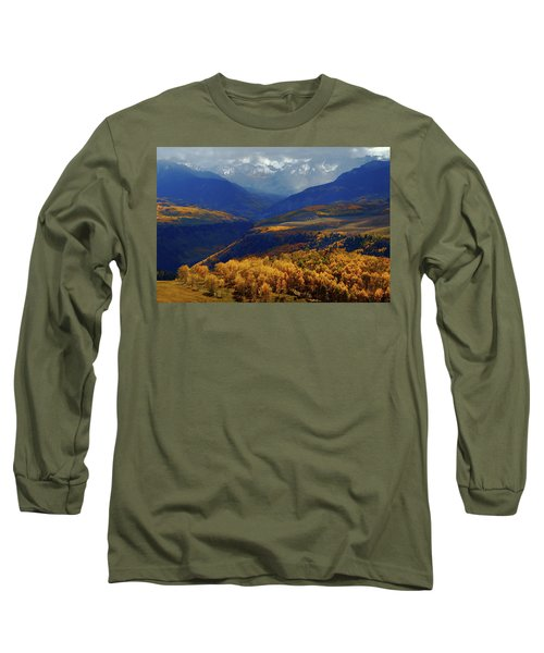 Canyon Shadows And Light From Last Dollar Road In Colorado During Autumn Long Sleeve T-Shirt