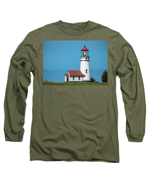 Cape Blanco Lighthouse At Cape Blanco, Oregon Long Sleeve T-Shirt