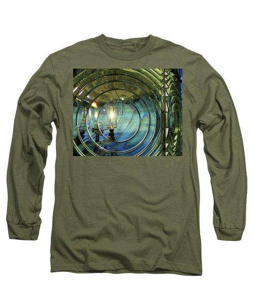 Cape Blanco Lighthouse Lens Long Sleeve T-Shirt by James Eddy