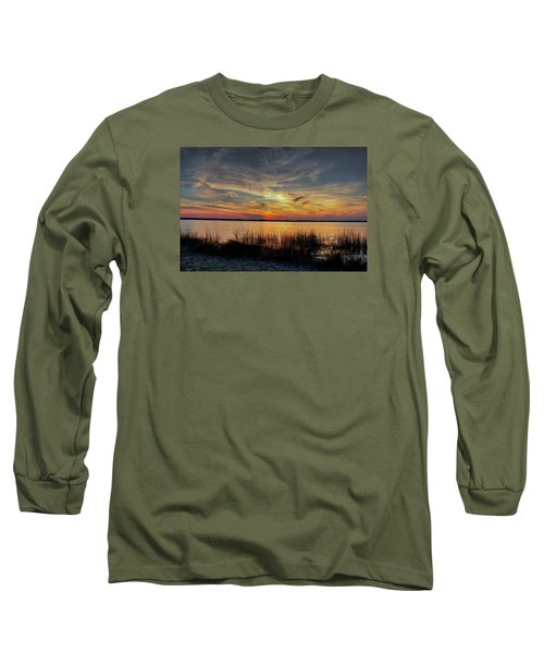 Long Sleeve T-Shirt featuring the photograph Cape Fear Sunset Return by Phil Mancuso