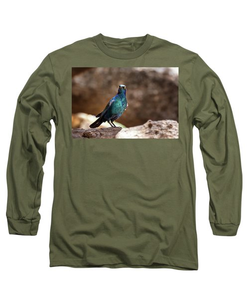 Cape Glossy Starling Long Sleeve T-Shirt by Jane Rix