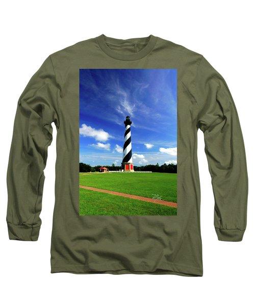 Long Sleeve T-Shirt featuring the photograph Cape Hatteras Lighthouse by Meta Gatschenberger