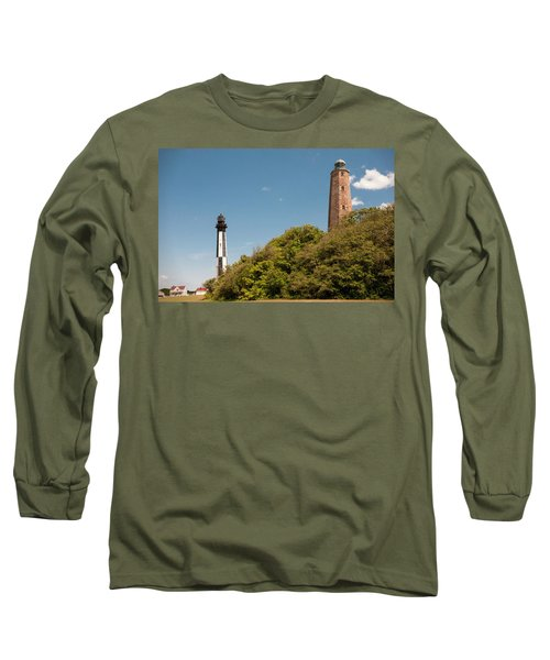 Cape Henry Lighthouses Old And New Long Sleeve T-Shirt