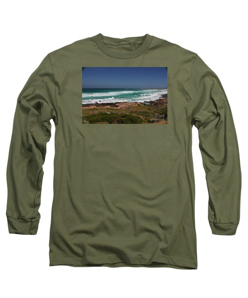 Capetown Peninsula Beach Long Sleeve T-Shirt by Bev Conover