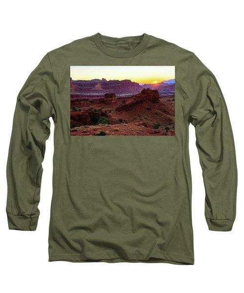Capitol Reef Sunrise Long Sleeve T-Shirt