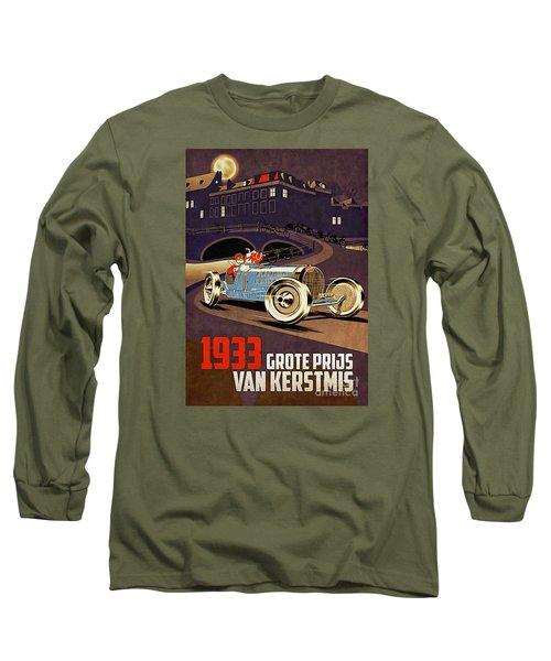 Car Racing Christmas Poster Of The 30s Long Sleeve T-Shirt