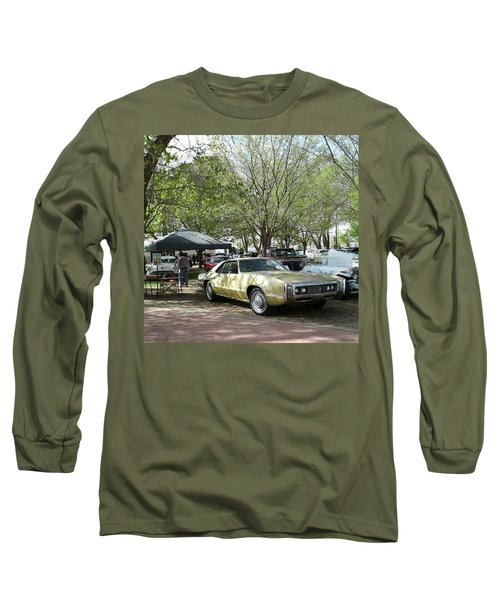 Long Sleeve T-Shirt featuring the pyrography Car Show Saturday by Jack Pumphrey