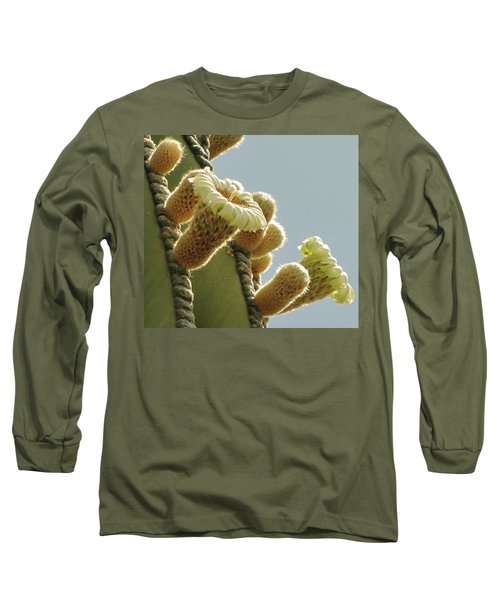 Long Sleeve T-Shirt featuring the photograph Cardon Cactus Flowers by Marilyn Smith
