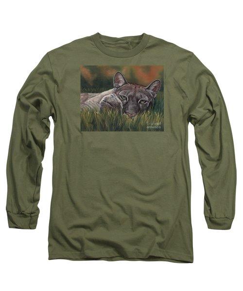 Long Sleeve T-Shirt featuring the pastel Carez...i Has None by Sheri Gordon
