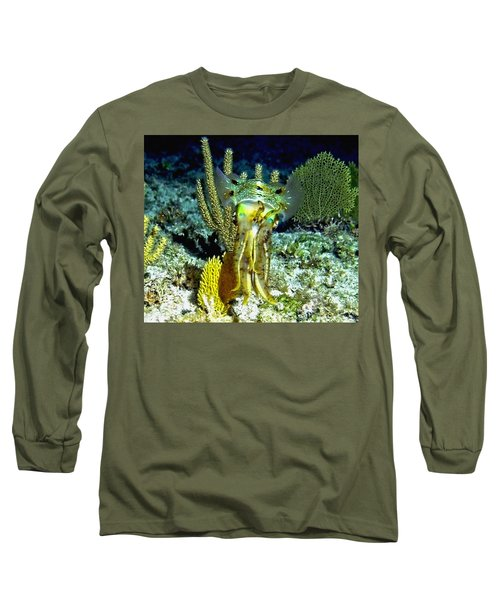 Caribbean Squid At Night - Alien Of The Deep Long Sleeve T-Shirt