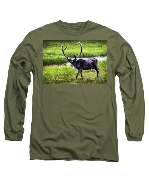 Long Sleeve T-Shirt featuring the photograph Caribou by Anthony Jones