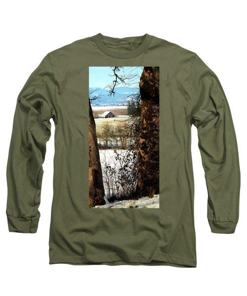 Carlton Barn Long Sleeve T-Shirt by Jerry Sodorff