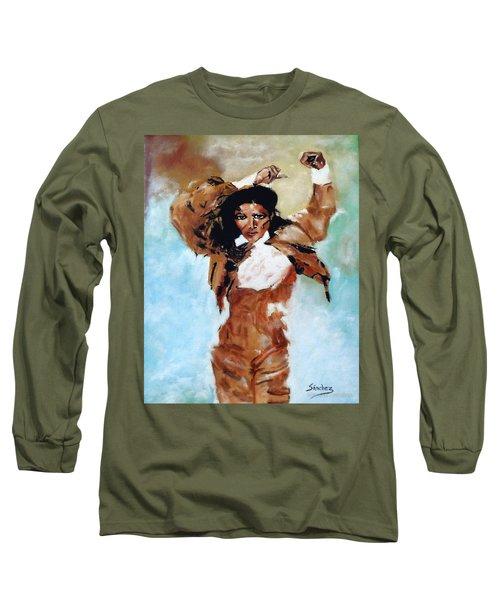 Carmen Amaya Long Sleeve T-Shirt by Manuel Sanchez