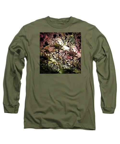 Carols Magnolia Long Sleeve T-Shirt by Karen Lewis