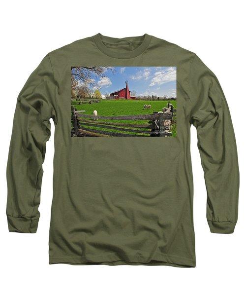 D14d-43 Carriage Hill Farm Metro Park Photo Long Sleeve T-Shirt