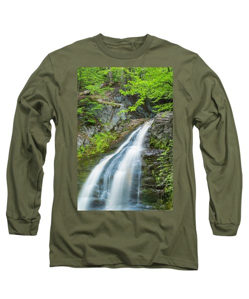 Long Sleeve T-Shirt featuring the photograph Cascade Waterfalls In South Maine by Ranjay Mitra