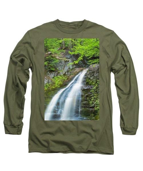 Cascade Waterfalls In South Maine Long Sleeve T-Shirt